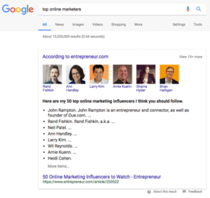 Google Snippet Showing Something New. Check What It Is? 3